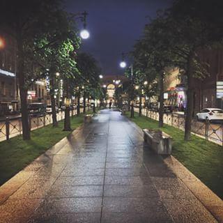 Большая Конюшенная вечером после дождя ✌️